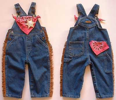 5T NEW Cowboy Bib Overalls Baby /& Toddler Boy Sizes 9 mos Blue Denim Jeans
