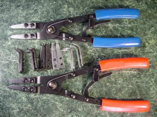 """10/"""" CIRCLIP RETAINING RING PLIERS tool plier snap 2pc"""