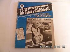 LE HAUT PARLEUR RADIO TELEVISION N°1014 15/04/1959 POSTE A TRANSISTORS    H20