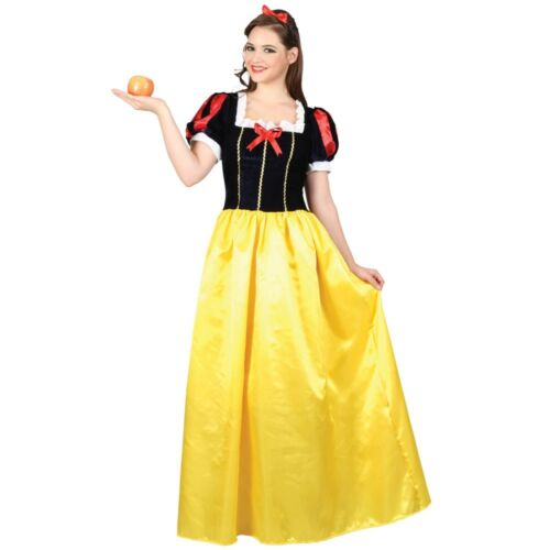 Adult SNOW WHITE PRINCESS Fairytale Fancy Dress Costume Book Week Ladies UK 6-20