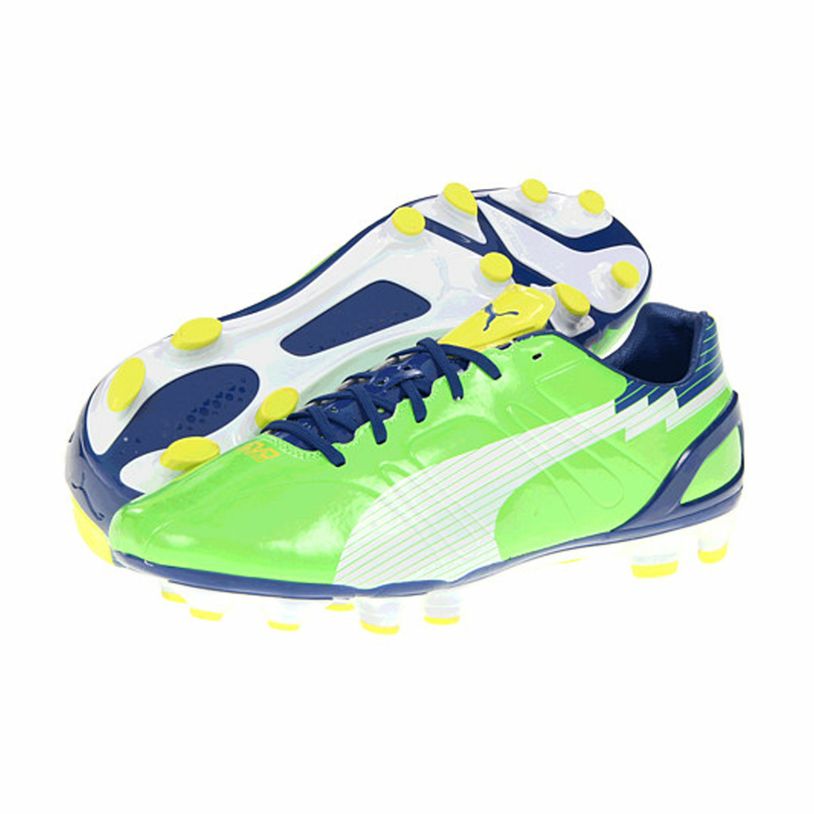 Details about Puma Evospeed 3FG Men s Football Boots Shoes New -  Green White Yellow 1fa47c7bcd29