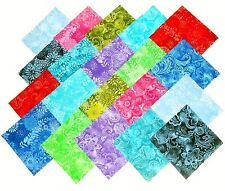 80 5 inch Quilting Fabric Squares Beautiful Batik Tonals !!!!!