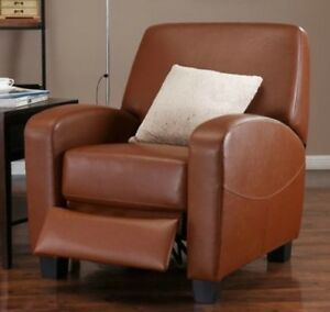 Image Is Loading Caramel Leather Armchair Recliner Club Chair Camel Arm
