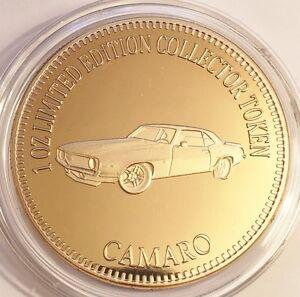 NEW-2016-034-CAMARO-034-M-Car-Series-2-1-0z-HGE-999-24k-Gold-Coin-LTD-2-500