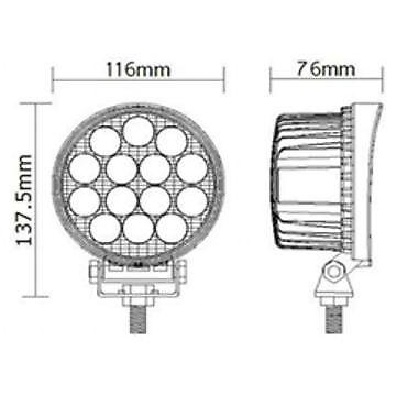 10X 42W 10-30V 14 LED WORK SPOT BEAM LAMPS NEW HOLLAND MASSEY FERGUSON JCB