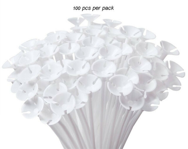 Balloon Cups and Sticks White 100pcs Italian High Quality Birthday Party Events