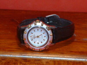 Pre-Owned-Women-s-Peugeot-Leather-Band-Analog-Quartz-Watch-Parts-Only