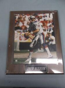 DREW-BLEDSOE-NEW-ENGLAND-PATRIOTS-NFL-8x10-Photo-on-10-1-2-x-13-Plaque-engraved