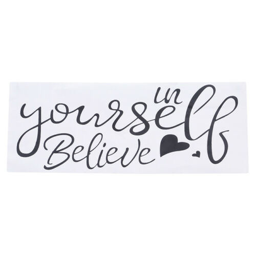 Inspirational Home Kids Room Decal Wall Sticker Believe In Yourself Decor J