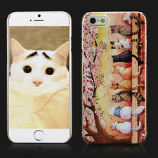 For Apple iPhone 6 6S+ Plus Lovely Fat Ass Pet Cats 3D Pattern Thin Fit Case