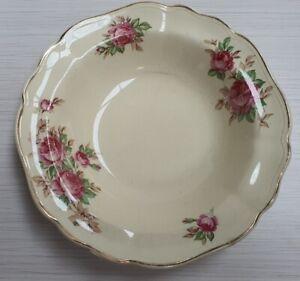Vintage-J-amp-G-Meakin-Pink-Roses-Pattern-Bowl-c1912-39-Made-in-England-16cm