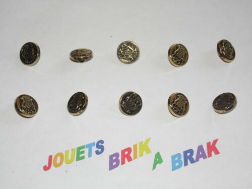 Lot de Boutons buttons blason Dorés diametre 14mm choose quantity