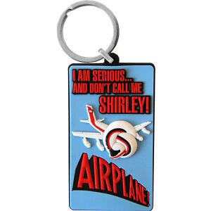 Airplane-PVC-Keyring-Movie-Film-Keychain-Comedy-Funky-Retro-Keychain-SALE-ITEM