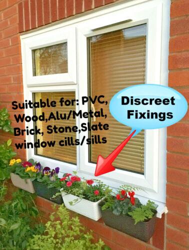Window box cill sill fixings brackets No Drill No Holes No Screw flowers herbs