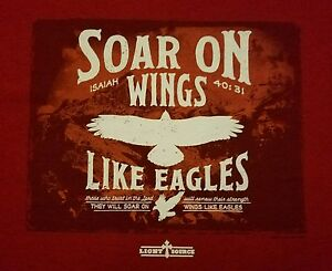 Soar-On-Wings-Like-Eagles-T-Shirt-Jesus-Christian-Isaiah-40-31-Various-Sizes