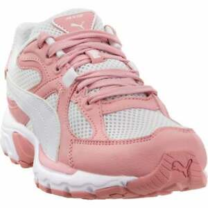 Puma-Axis-Plus-90S-Lace-Up-Mens-Sneakers-Shoes-Casual-Pink