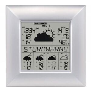 Technoline WD 9000 Silber Wetterstation Temperaturanzeige Wettervorhersage