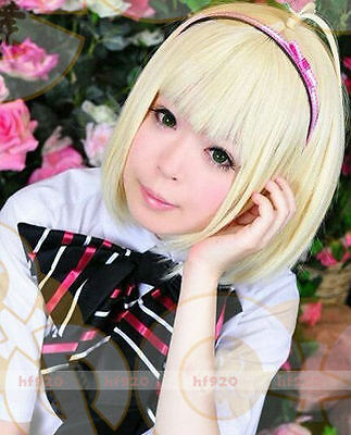 Anime Ao No Exorcist Shiemi Moriyama Blonde Cosplay Wig Full Wig Accessories