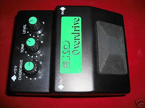 Vintage eko overdrive pedal nos never played