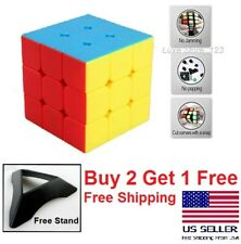 Stickerless Fastest Speed cube 3x3x3 magic twist puzzle cube 3D New