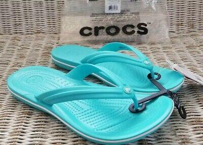 CROCS Crocband FLIP Beach Shoes  Crocband Pool //White Pink //White Black mknjsegt