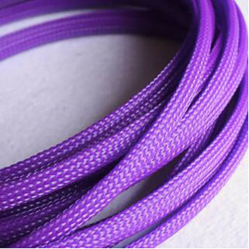 Ø6mm Expandable Braided Dense PET Sleeve Cable Hose Audio Diy Various Color