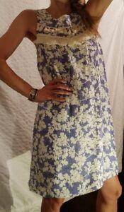 New-KENSIE-Blue-amp-White-Floral-Sleeveless-Short-Dress-Zipper-Women-039-s-M-Medium