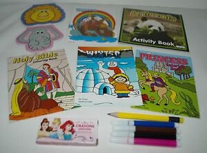 Details about FUN SET COLORING BOOKS NOTEPADS PEN PENCIL FOR 18\