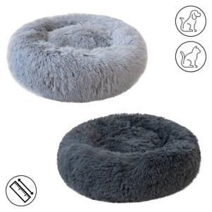 Grey-Pet-Dog-Cat-Calming-Bed-Comfy-Shag-Warm-Fluffy-Nesting-Bed-Mattress-Fur-Mat