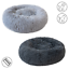 thumbnail 1 - Grey-Pet-Dog-Cat-Calming-Bed-Comfy-Shag-Warm-Fluffy-Nesting-Bed-Mattress-Fur-Mat