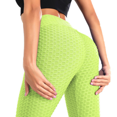 Womens Anti-Cellulite Yoga Pants High Waist Fitness Gym Sports Leggings Trousers