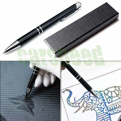 Stainless Steel Point Retractable Craft Weeding and Air Release Pen Tool