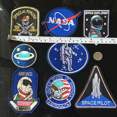 NASA SPACE ASTRONAUT JUPITER Embroidered Patch Iron-On Sew-On Motif Applique