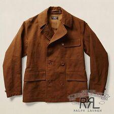 $590 RRL Ralph Lauren 1940s York Brown Water Resistant Bonded Jacket Coat-MEN- L