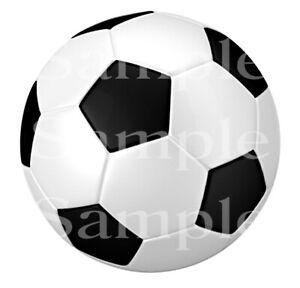 Soccer Ball Birthday ~ Edible 2D Fondant Cake Cupcake Topper ~ D24498 *