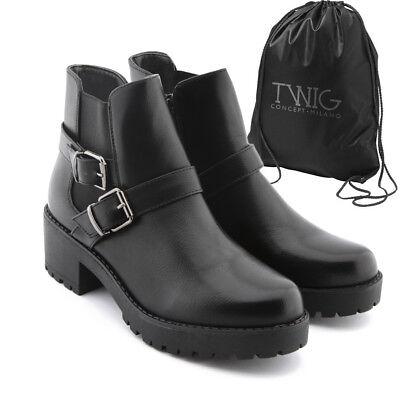 Botas mujer TWIG T287 botines zapatos calzado negro marrón