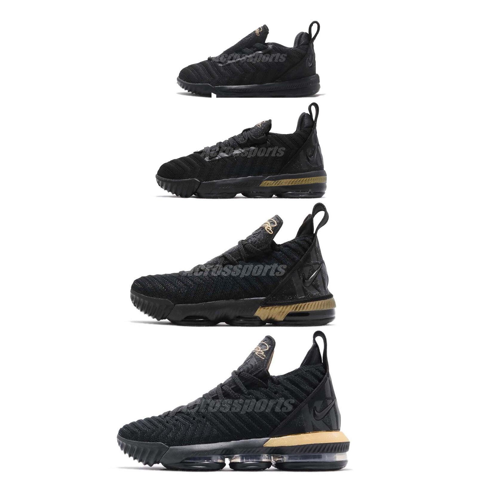 Nike LeBron XVI 16 James Im King nero oro Basketball scarpe Family Dimensione Pick 1