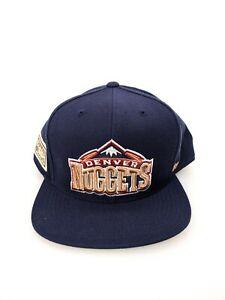 Mitchell Ness Denver Nuggets Hardwood Classics Hat Cap Adult Size 8 Blue NBA
