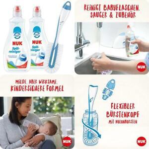 NUK Spülreiniger  Flaschenbürste für Babyflaschen   2 x Parfümfrei Spülreini
