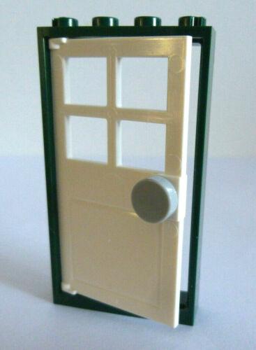 1 x LEGO® 60596 City,Tür in earth green//weiss,neuhellgrau auf dem Foto Neuware