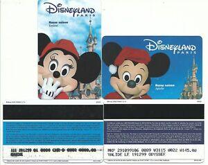2 Pass Euro Disney Disneyland Mickey Minnie Hiver Verso Speos 99/02/mic Min Ttb 0y0huf3j-08001749-134400694