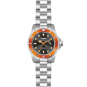 Invicta 22022 gent 39 s orange accented bezel black dial dive - Orange dive watch ...