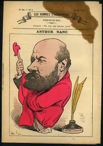 Arthur Ranc Publiciste Et Homme Politique Caricature Gamme ComplèTe D'Articles