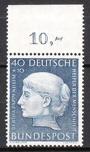 BRD-1954-Mi-Nr-203-Oberrand-Postfrisch-TOP-11997