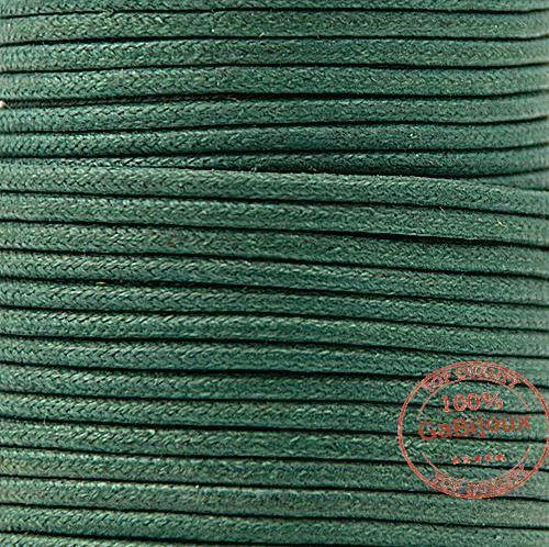 12Mt  Cordino Filo Nastro Corda In Cotone Cerato  Vari Colori 1 mm Bigiotteria