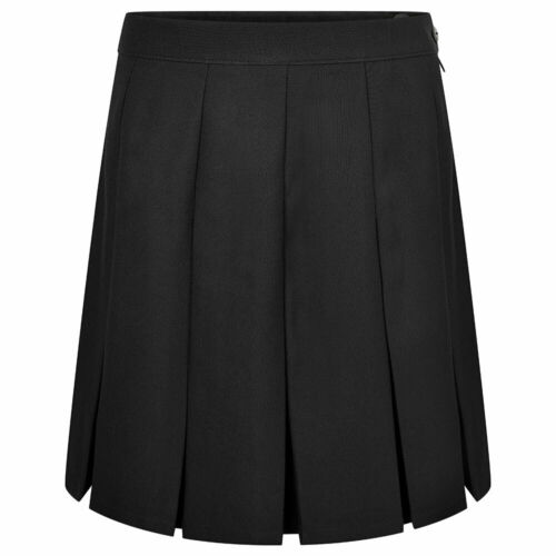 ZECO Girls Adult Dress Stitched Down Box Pleat Skirt Ladies School Uniform Wear