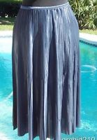 Cache Luxe $178 Pleated Stretch Soft Metalic Skirt Xs/s/m/l/xl Elastic Waist