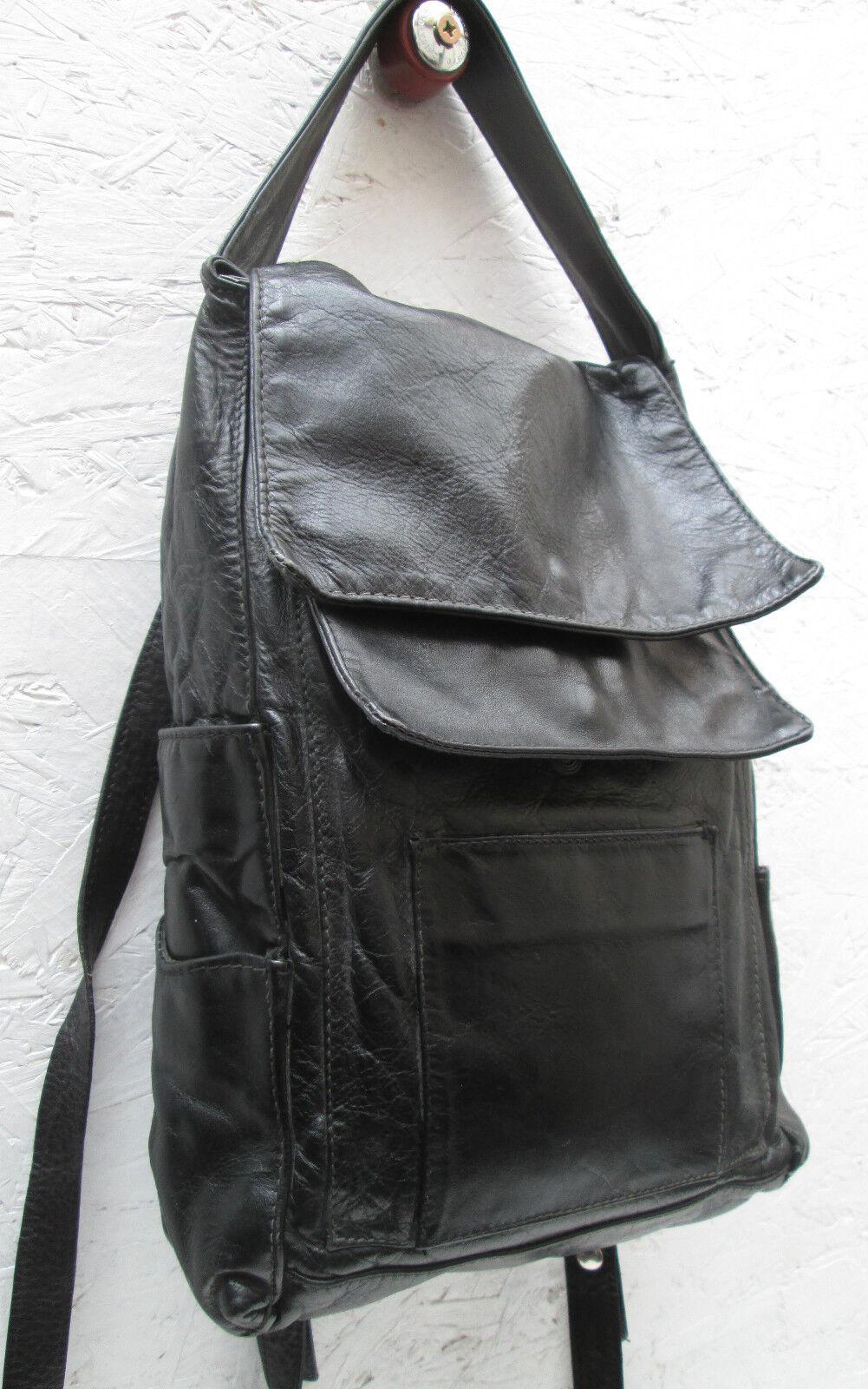 -AUTHENTIQUE sac à dos   cuir    TBEG vintage bag