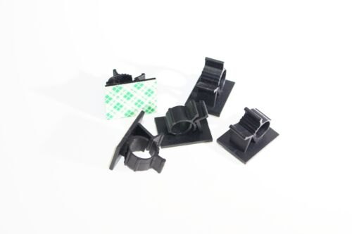 3M Adhesive Backed Nylon Wire Cable Clips Clamp Clamps Adjustable Pack of 5
