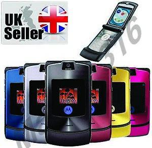 Motorola-RAZR-V3i-Gold-Blue-Black-pink-Red-Purple-Silver-grey-Unlocked